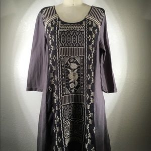 NWT JWLA Johnny Was Embroidered  Tunic Sz M